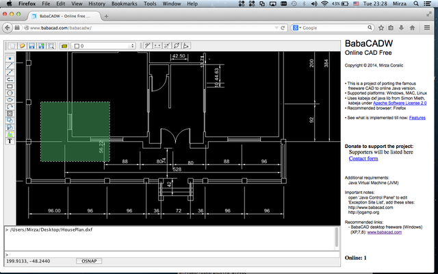 Babacad free cad software Web cad software