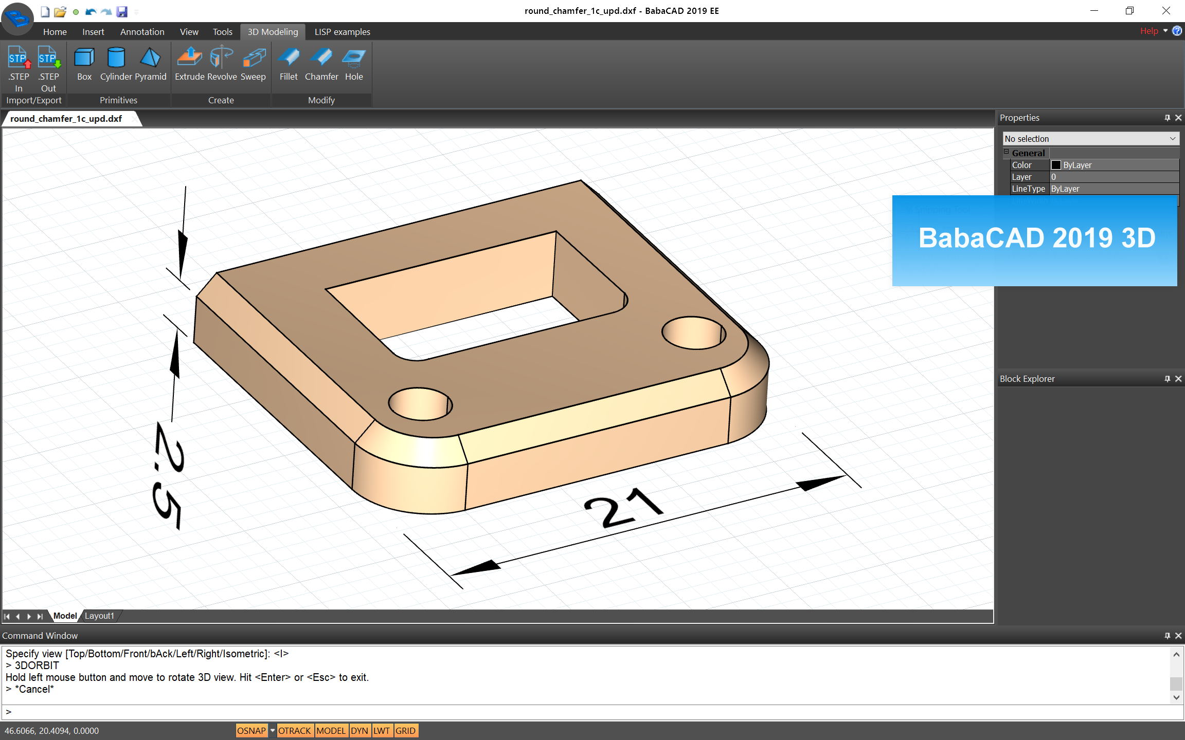 BabaCAD - Professional Low-Cost CAD Software