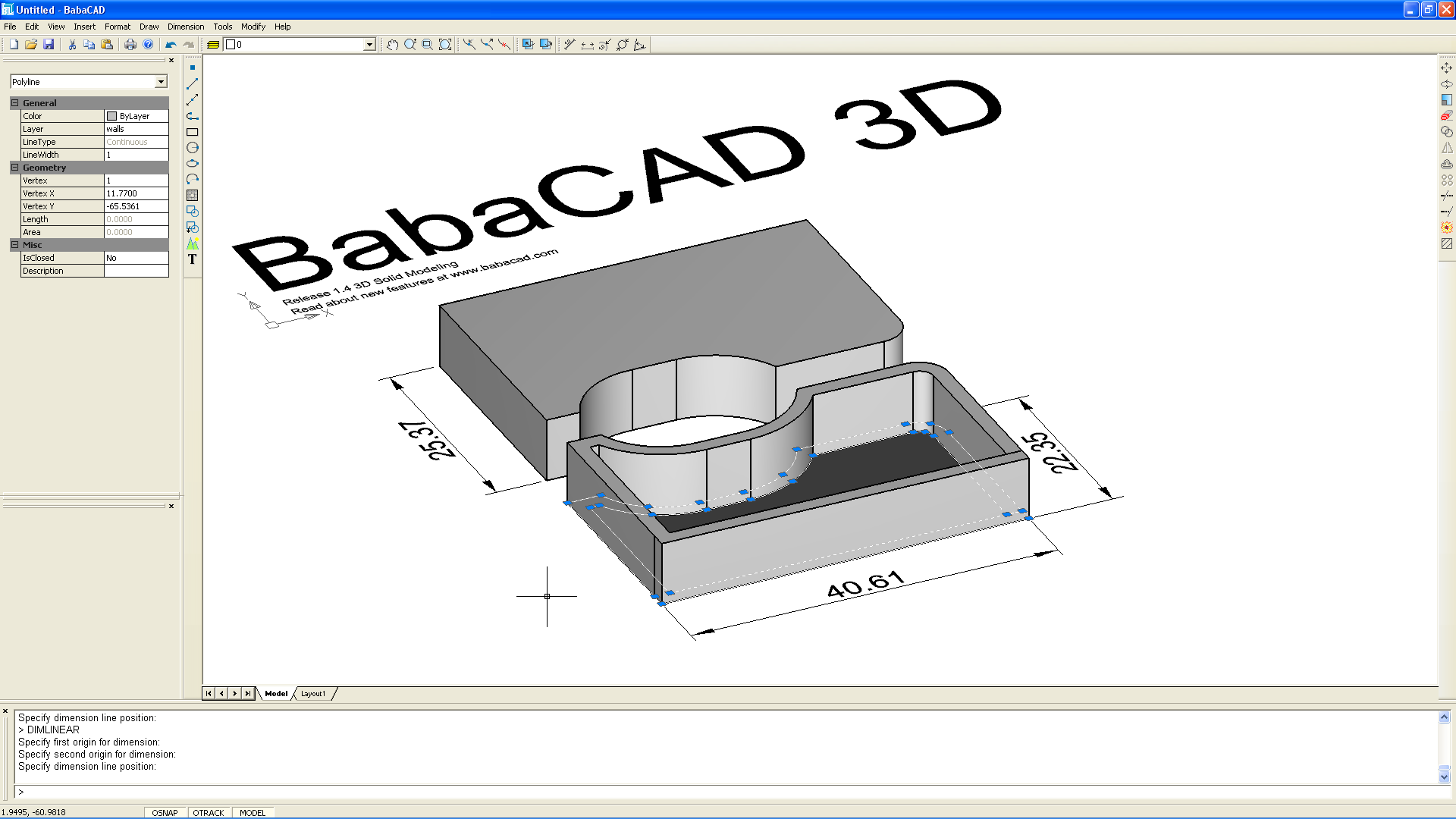 BabaCAD 3D Mechanical Part 1