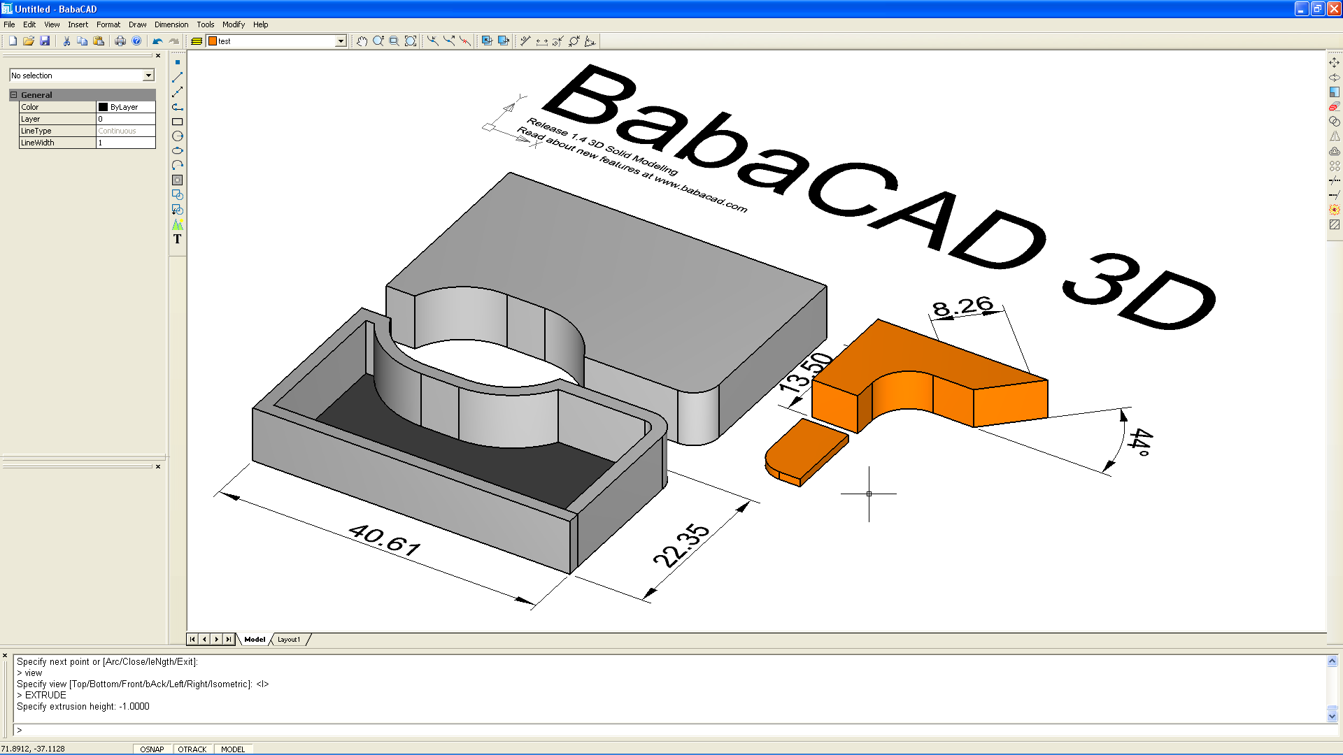 Babacad free cad software 3d cad software