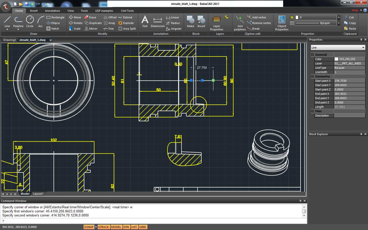 Babacad free cad software for Online cad drawing software